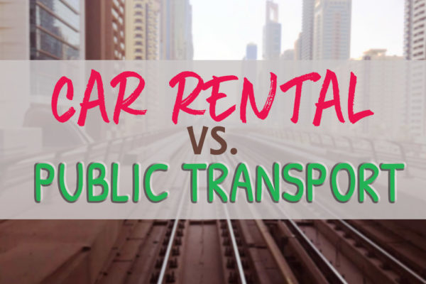 car rental vs public transport