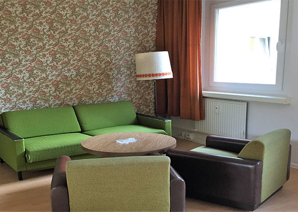 ostel berlin room seating area
