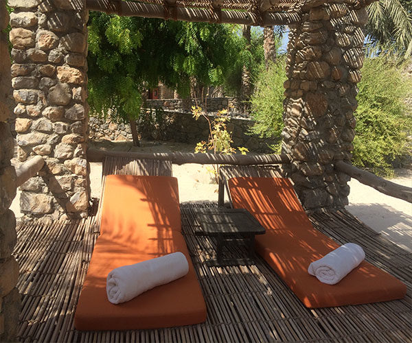 six senses zighy bay pool loungers