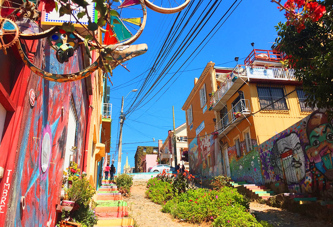 Colorful Houses in Valparaiso Chile