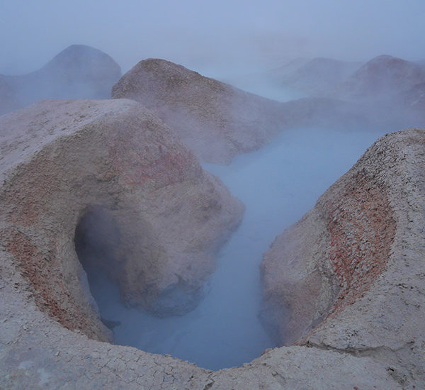 Geysir at the Bolivian Altiplano